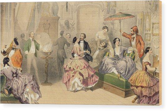 Soirees Parisiennes Wood Print