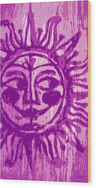 Sol - Fuschia Wood Print