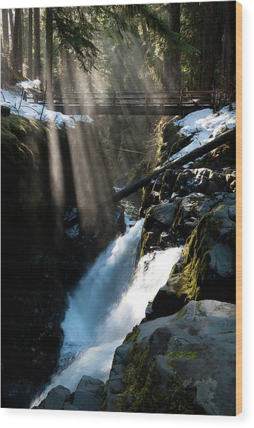 Sol Duc Falls, Olympic National Park Wood Print