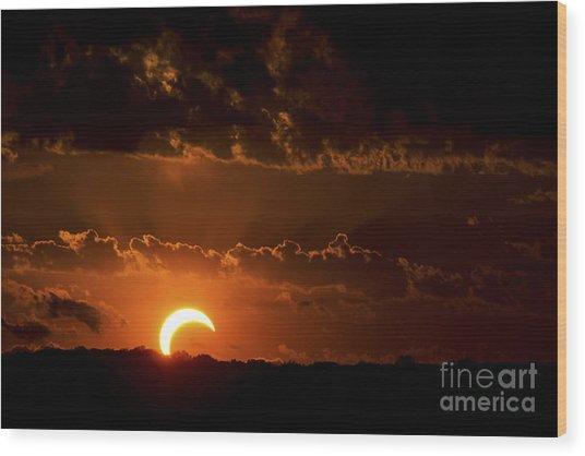 Solar Eclipse Wood Print