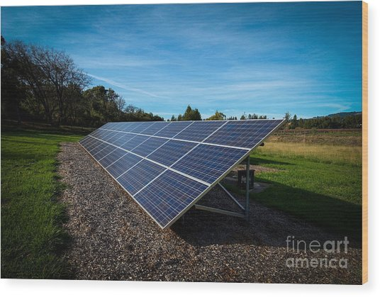 Solar Panels Mendocino County Wood Print