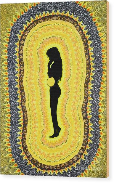 Solar Plexus Chakra  Manipura Wood Print