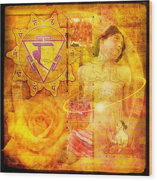 Solar Plexus Chakra Wood Print by Mark Preston