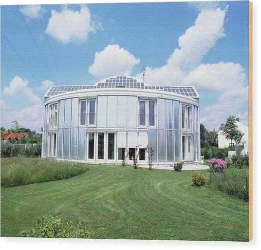 Solar-powered House Wood Print