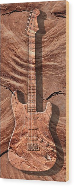 Solid As A Rock Panoramic Wood Print