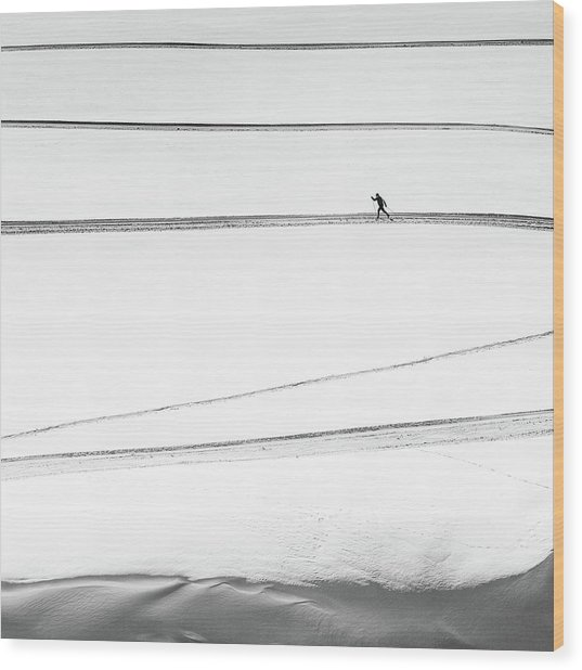 Solitary . . Wood Print by Matej Rumansky