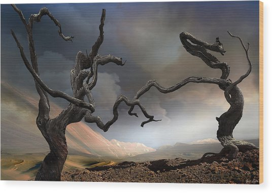 Solitary Together Wood Print by Igor Zenin
