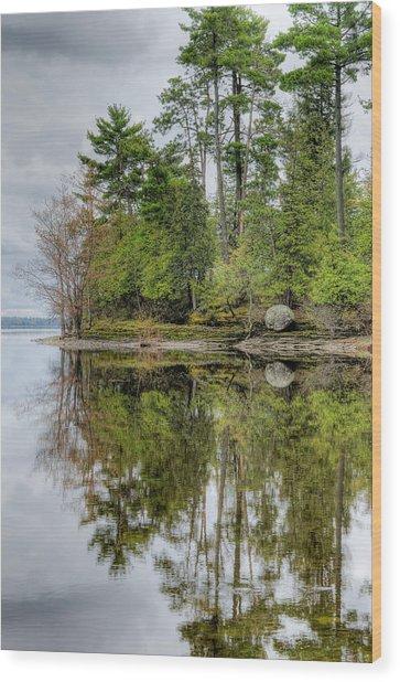 Solitude At Pinheys Point Ontario Wood Print
