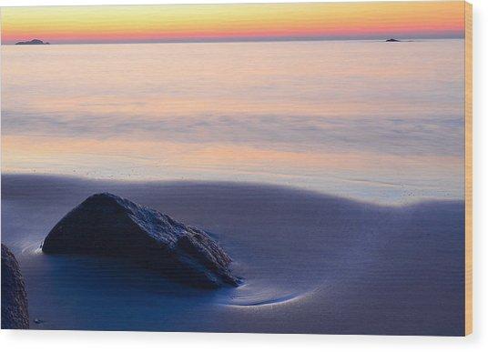 Solitude Singing Beach Wood Print