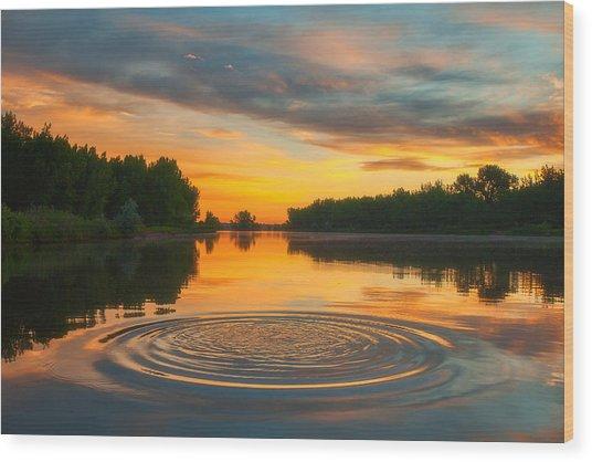 Solstice Ripples Wood Print