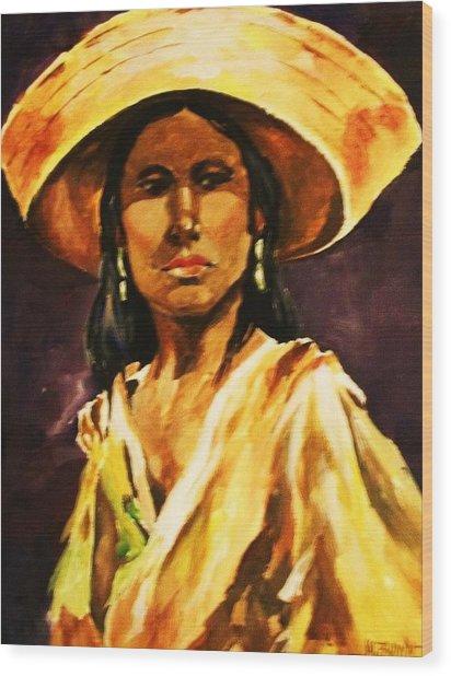 Sombrero Ll Wood Print
