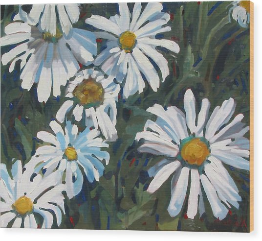 Some Are Daisies Wood Print