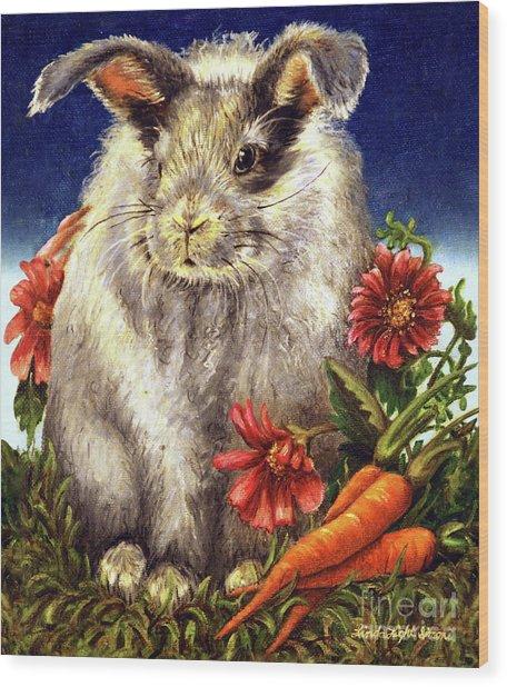 Some Bunny Is A Fuzzy Wuzzy Wood Print
