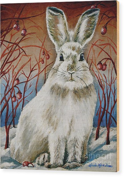 Some Bunny Is Charming Wood Print