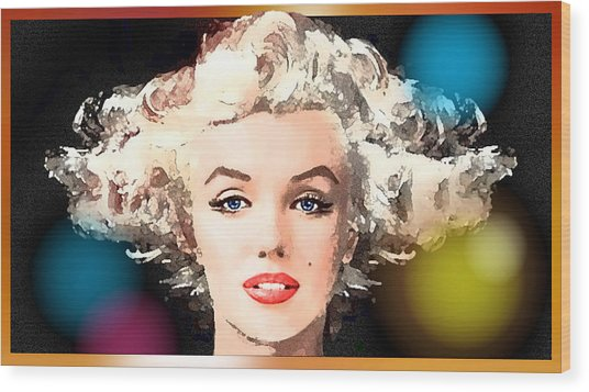 Marilyn - Some Like It Hot Wood Print