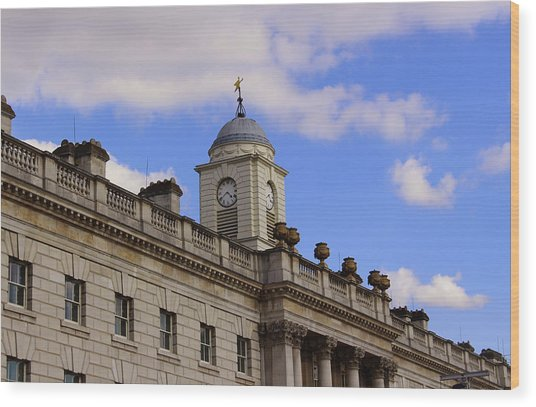 Somerset House Wood Print by Nicky Jameson