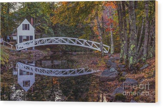 Somersville Maine. Wood Print