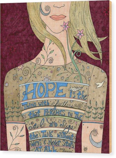 Song Of Hope Wood Print by Valerie Lorimer
