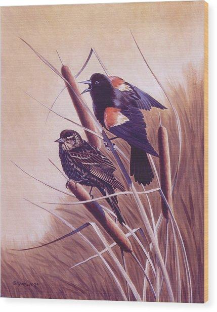 Song Of The Marsh Wood Print