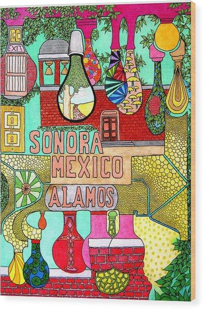 Sonora Lights 01 Wood Print