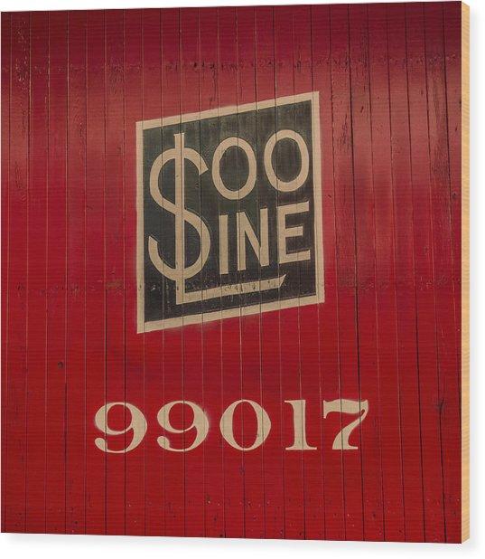 Soo Line Box Car Wood Print
