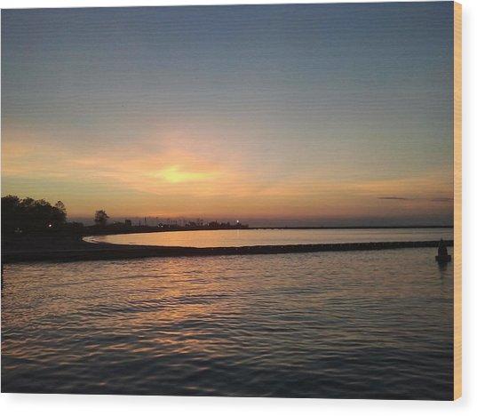 Soothing Sunset Wood Print by Anastasia Konn
