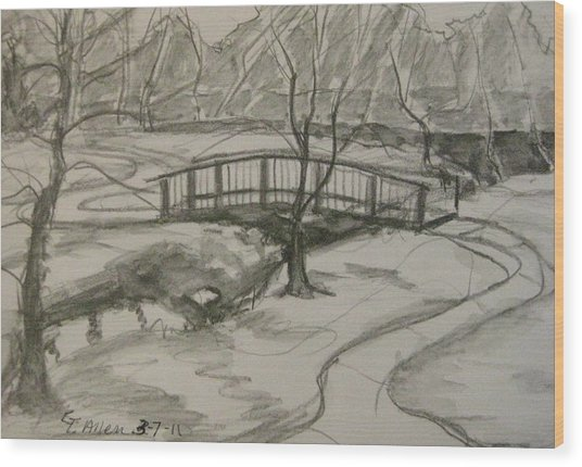 Sope Creek Bridge Wood Print