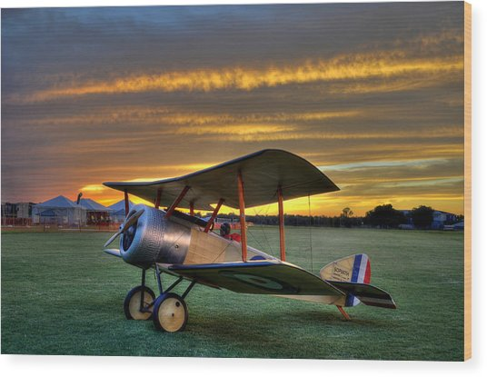 Sopwith Sunset Wood Print