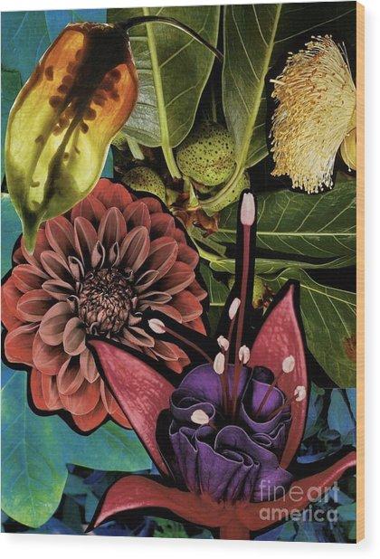 Sorrellism Collage 1 Wood Print by Susan Sorrell