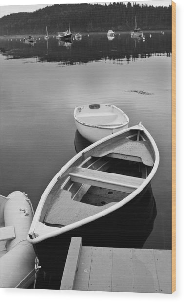 Sorrento Harbor Boats Wood Print