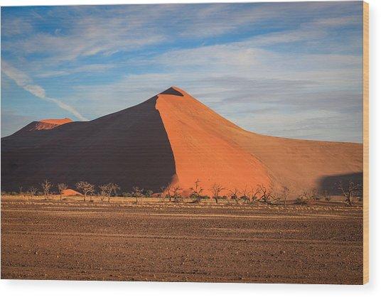 Sossusvlei Park Sand Dune Wood Print