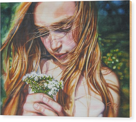 Soul Blossoms Wood Print