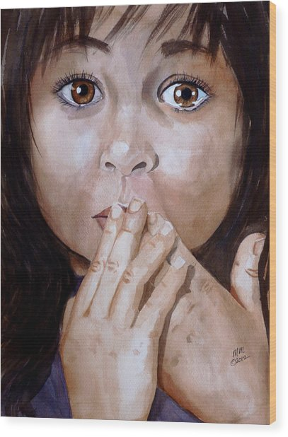 Soul Tears Wood Print