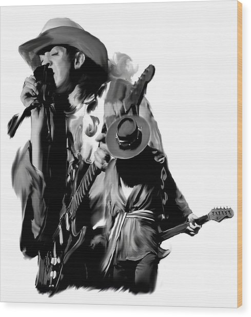 Soul To Soul  Stevie Ray Vaughan Wood Print