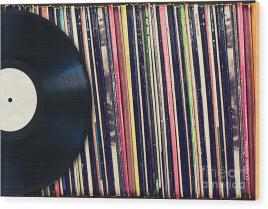 Sound Of Vinyl Wood Print