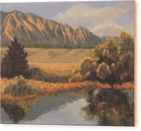 South Boulder Creek Wood Print