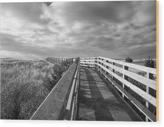 South Cape Beach Boardwalk Wood Print