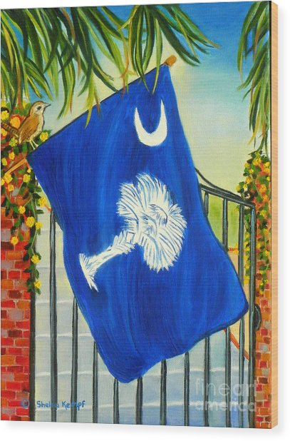 South Carolina - A State Of Art Wood Print