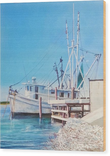 South Carolina Oysters Wood Print