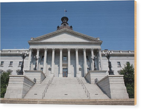 South Carolina State Capital Building Wood Print