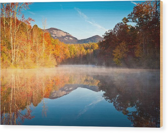 South Carolina Table Rock State Park Autumn Sunrise - Balance Wood Print