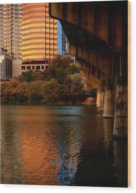South Congress Bridge Wood Print