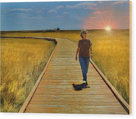 South Dakota Prairie 1 Wood Print