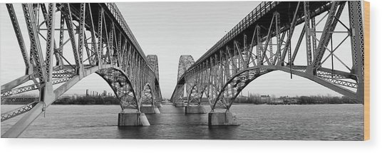 South Grand Island Bridges, New York Wood Print