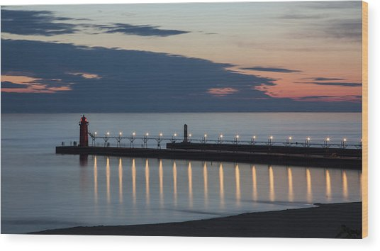 South Haven Michigan Lighthouse Wood Print