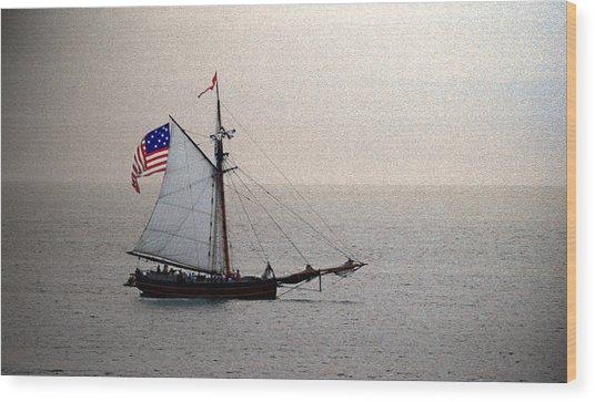 South Haven Sailing Wood Print