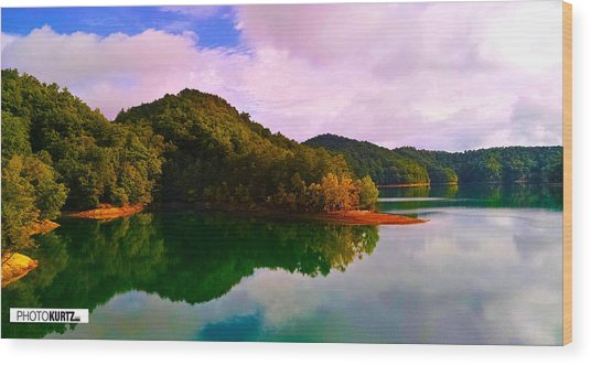 North Holston Lake Mountains Wood Print