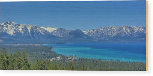 South Lake Tahoe View Wood Print