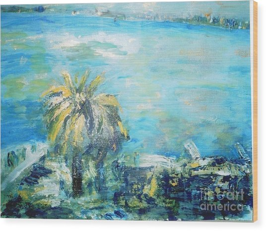 South Of France    Juan Les Pins Wood Print by Fereshteh Stoecklein