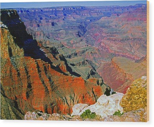 South Rim Grand Canyon N.p. Wood Print